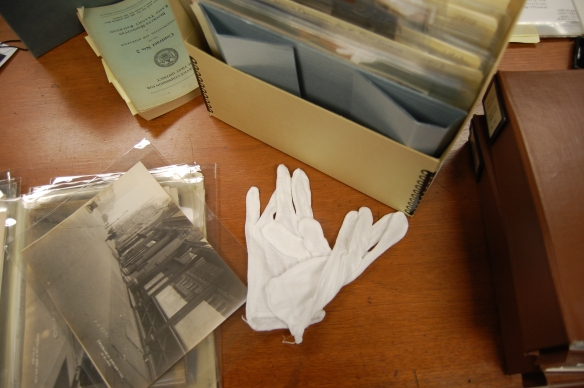 We had to handle the photographs with archival gloves. I was a full-fledged researcher!